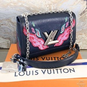 Louis Vuitton Twist MM Epi Sequin Embellished Bag